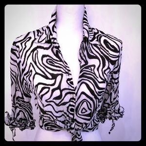 Black and White graphic print blouse